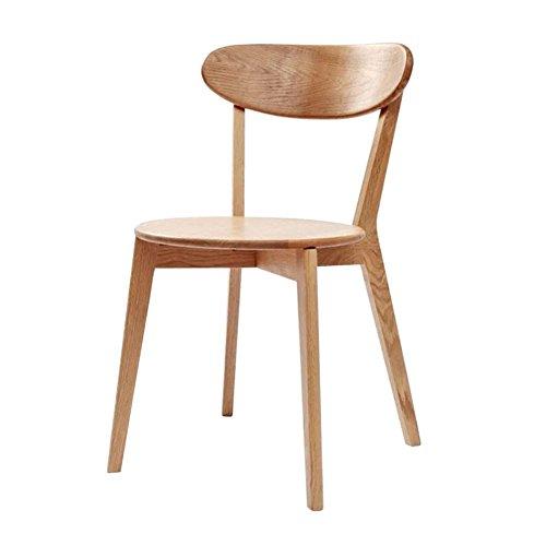 MENA Uk Pure Wood Chair, 70er Jahre, Eiche Größe 50X45X80cm, BackChair Kreuz Stuhl Freizeit Stuhl Esszimmerstuhl (Farbe…