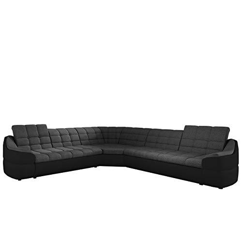 Mirjan24  Design Ecksofa Infinity L, Einstellbare Kopfstützen, Schwerentflammbar Stoff, L-Form Couchgarnitur, freistehendes Polsterecke Sofa, Wohnlandschaft Couch (Madryt 1100 + Inari 96)