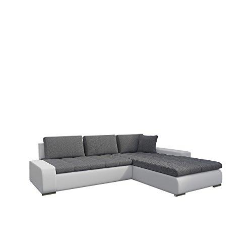 Mirjan24  Eckcouch Ecksofa - Orkan! Elegante Sofa mit Schlaffunktion und Bettfunktion, Bettkasten Couch L-Sofa Große Farbauswahl, Qualität (Soft 017 + Florida 01)