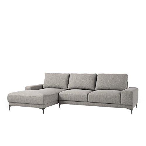 Mirjan24  Ecksofa Cadori Eckcouch Sofa Couch Hochelastischer Schaumstoff, Metall Füße, Sofagarnitur Couchgarnitur Lounge Polsterecke vom Hersteller (Eliot 12, Seite: Links)