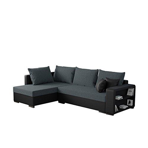 Mirjan24 Ecksofa Clovis Sale, Moderne Eckcouch mit Schlaffunktion und Bettkasten, Ottomane Universal, Couch L-Form, Farbauswahl, Wohnlandschaft (Soft 011 + Bristol 2446)