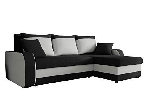 Mirjan24  Ecksofa Kristofer Lux, Eckcouch Couch! mit Schlaffunktion, Zwei Bettkasten, Farbauswahl, Wohnlandschaft! Bettfunktion! Design L-Form Sofa! Seite Universal! (Porto 36 + Porto 31)