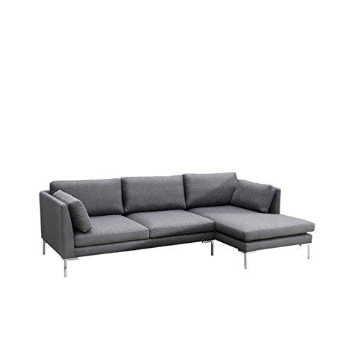Mirjan24  Ecksofa Ocean II Sofagarnitur, Couchgarnitur Lounge Sofa Couch inkl. Kissen-Set, Eckcouch Polsterecke (Seite: Rechts, Inari 94)