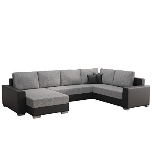 Mirjan24  Ecksofa Olga, Elegante Big Couch, Design U-Form Eckcouch, Ecksofa, Farbauswahl, Wohnlandschaft (Ecksofa Links, Soft 011 + Florida 01)