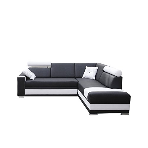 Mirjan24  Ecksofa Roma, Farbauswahl, Ecksofa für Wohnzimmer, Gästezimmer, Wohnlandschaft, Design L-Form Couch, Elegante Eckcouch (Seite: rechts, Ek 14 + Ek 26)
