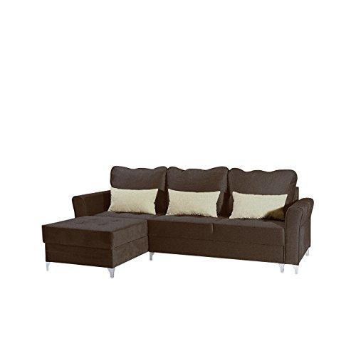 Mirjan24  Ecksofa Sofa Broadway Mini mit Bettkasten und Schlaffunktion, Eckcouch Schaumstoff HR, Schlafcouch, freistehendes Bettsofa, Funktionssofa (Twist 8 + Twist 1)