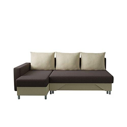 Mirjan24  Ecksofa Tom! Sofa Eckcouch Couch! mit Zwei Bettkasten und Schlaffunktion, Funktionssofa L-Form Schlafsofa Bettsofa (Ecksofa Links, Alova 68 + Alova 07)