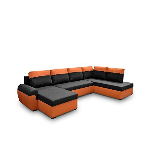 Mirjan24 Elegante Ecksofa Mori XL, Eckcouch mit Schlaffunktion und Zwei Bettkasten, Großes Polsterecke U-Form Couch…