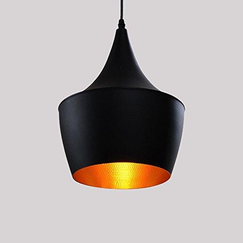 Moderne Industrie beleuchtung Metall Schatten Loft Pendelleuchte Retro-Deckenleuchte Vintage Lampenschirme Retro Lampe Shade Loft Coffee Bar Küchenhänge Ppendelleuchte (schwarz (typ B))