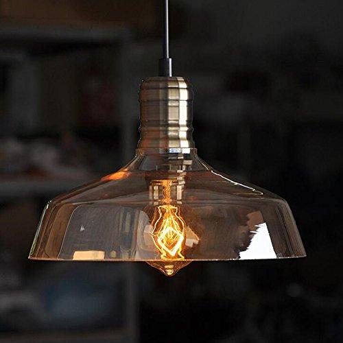 Moderne Vintage Retro INDUSTRIE loft Glasdeckenlampenschirm Pendelleuchte Bernstein