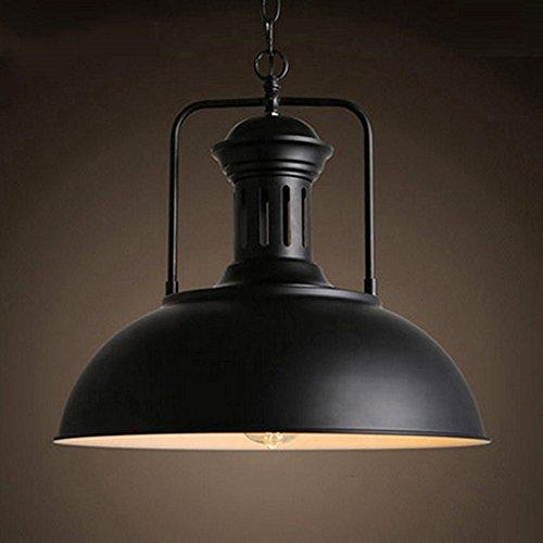 """Retro Industrielle Pendelleuchte, MOTENT Vintage Stil Hängeleuchte 12,99""""Breite Umweltfreundlich Deckenleuchte Ceiling Lampe mit rustikalem Dome/Schüsselanordnung in Schwarz"""