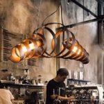 Retro Pendelleuchte Vintage Kronleuchter Spiralelampe Hängelampe Pendellampe lampeleuchte Eisen-Lampe Industrielampe Hängeleuchte [Energieklasse A++ to E]