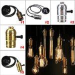 Rokoo Weinlese-Edison-Lampen-Halter-Anhänger-Licht E27 Fassung UL / 110V / 220V Lamp Base Glanz 1.2m Linie