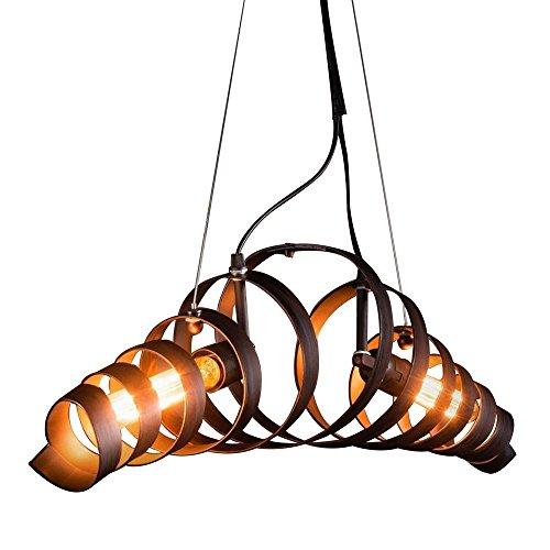 TINS Retro Pendelleuchte Vintage Kronleuchter Spiralelampe Hängelampe Pendellampe lampeleuchte Eisen-Lampe Industrielampe Hängeleuchte