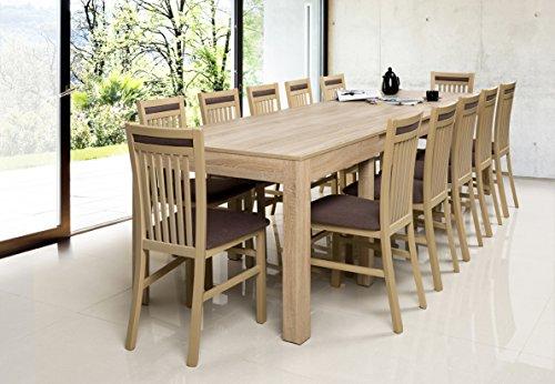 Tisch Küchentisch Esszimmertisch Esstisch WENUS ausziehbar 300 cm mit 12 Stühlen !!!