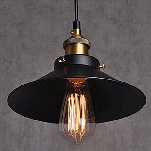 Vintage Retro Edison Loft Pendelleuchte, Retro Industrielle Deckenleuchte Lackiertem Eisen Regenschirm Lampenschirm Land Art Lampe