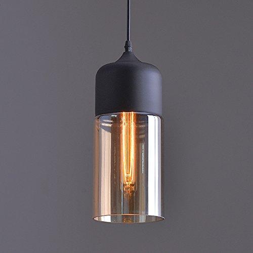 Weare Home Retro-Restaurant oder Küche Durchsichtiger Glas-Lampenschirm Pendelleuchten, Durchmesser 13cm, Höhe 33cm