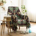 Weiche Decken Einzel Doppel Retro Geometrische Sofa Decke Bett Tailing Blanket Vier Jahreszeiten Blanket Anwendbar für Stuhl Schlafsofa -Max Home ( größe : 90*90cm )