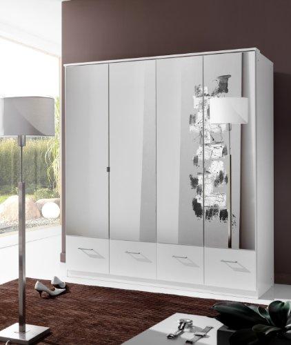 Wimex Kleiderschrank/ Drehtürenschrank Imago, 4 Türen, (B/H/T) 180 x 199 x 58 cm, Weiß