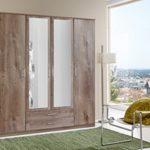 Wimex Kleiderschrank/ Drehtürenschrank Osaka, 4 Türen, (B/H/T) 180 x 199 x 58 cm, Schlammeiche