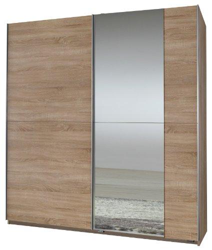 Wimex Kleiderschrank/ Schwebetürenschrank Queen, 1 Spiegel, (B/H/T) 180 x 198 x 64 cm, Eiche Sägerau