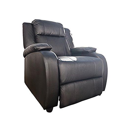 Invicta Interior Moderner Relaxsessel Hollywood Kunstleder schwarz verstellbar Liegesessel Sessel Fernsehsessel…