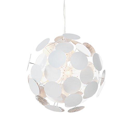 Design Hängeleuchte INFINITY weiss silber Pendelleuchte Lampe Beleuchtung