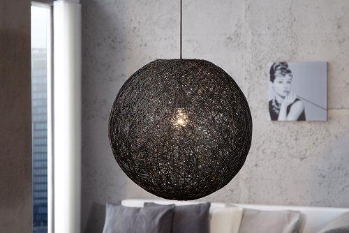 Invicta Interior Cocoon L Stylische Hängeleuchte schwarz 45cm
