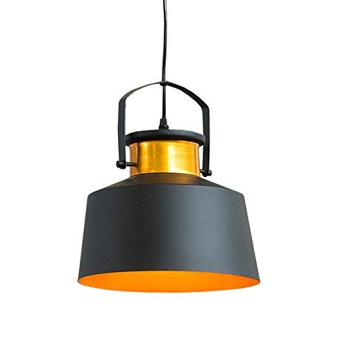 Retro Hängeleuchte LUZ I schwarz gold Industrial Design E27 Hängelampe Pendelleuchte Industrielampe Industrieleuchte