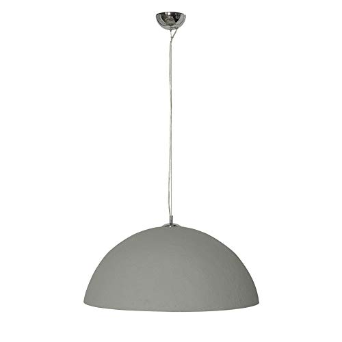 Riess Ambiente Stylische Hängeleuchte Glow 70cm Beton Silber Hängelampe Deckenlampe Leuchte