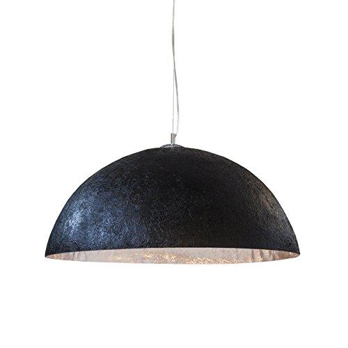 Stylische Hängeleuchte GLOW 50cm schwarz silber Hängelampe Esszimmerlampe Esszimmerbeleuchtung E27