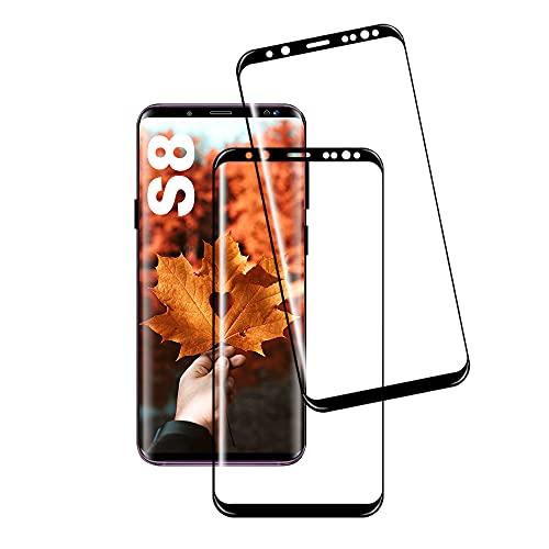 JingHuier Panzerglas Schutzfolie für Galaxy S8, [2 Stück] Hohe Qualität Gehärtetem Glass [HD Clear] [Blasenfrei] [9H…